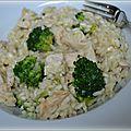 Risotto poulet/brocolis