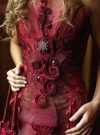 détails robe sylvie Facon