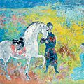 Vu cao dam (vietnamese/french, 1908-2000), lady and horse