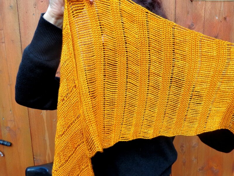 Spun Gold Shawl 2
