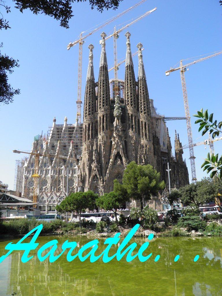 Nativity facade of Sagrada Família, Barcelona.