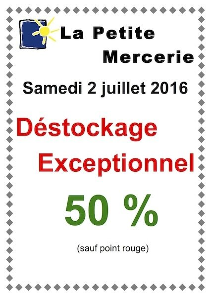 AFFICHE DESTOCKAGE EXCEPT - copie 2