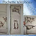 Pochette téléphone chats