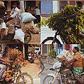 Rickshaw, train, bus et autres moyens de locomotions (dans chennai)