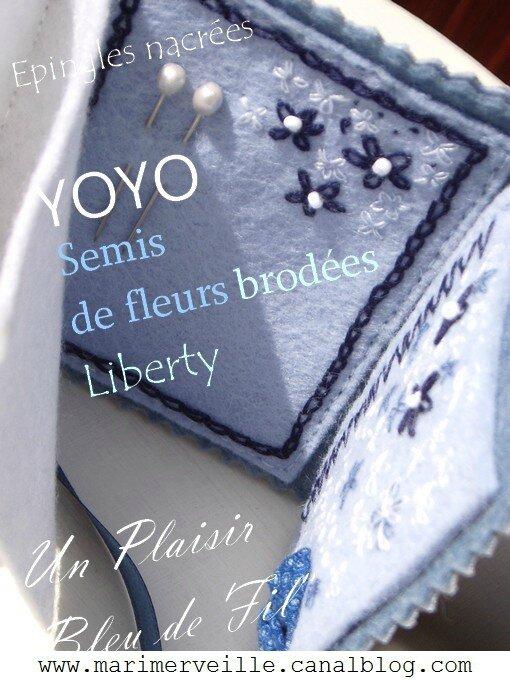 Carnet couture Marimerveille Bleu de fil épingles marimerveille