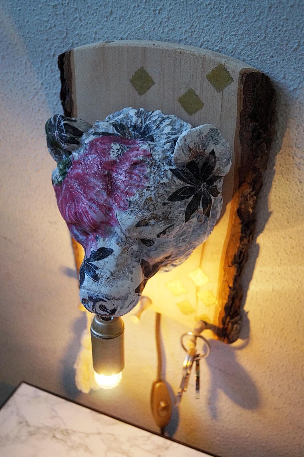 Lampe trophée ours #détournement