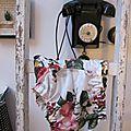 Culotte BIANCA en coton blanc imprimé rose et papillons - noeud de mousseline rose (3)