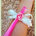 Un si beau jour... mariage zuzu #5: les bracelets des témoins (bis) et le bracelet de la mariée...
