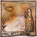 Mail art sur l'atelier à scrap