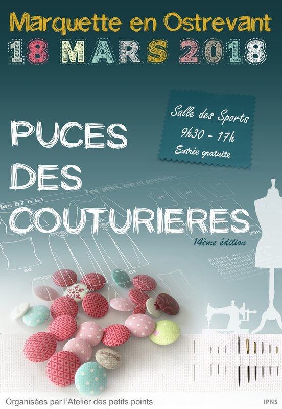 affiche puce couturiere2018