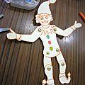 Fabrication de pantins articules en carton par les enfants