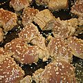 Eminces de poulet orange sesame