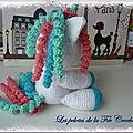 poney licorne au crochet n° 2