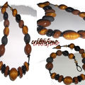 collier un clay marron/doré