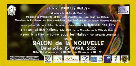 Invitation Salon de la Nouvelle Decize0001