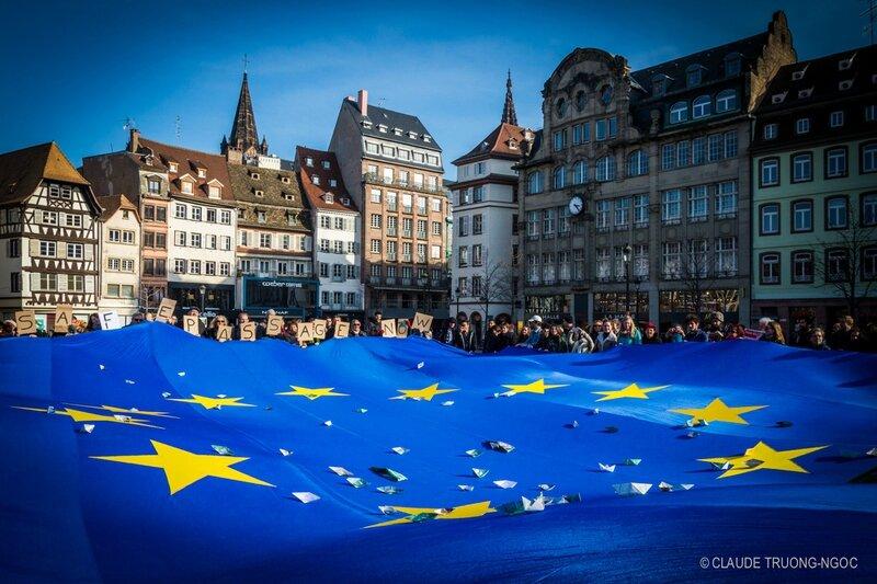 Manif européenne en faveur des réfugiés Stasbourg 27 février 2016-2