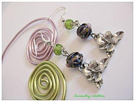 Boucles d'oreilles fleur de tiaré métal bijoudeco