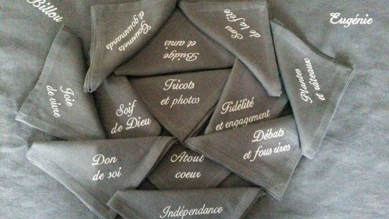 prénoms serviettes