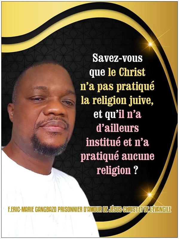 💥SAVEZ-VOUS QUE LE CHRIST N'A PAS PRATIQUÉ LA RELIGION JUIVE, ET QU'IL N'A D'AILLEURS INSTITUÉ ET N'A PRATIQUÉ AUCUNE ...