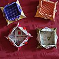 4 poubelles en tissu
