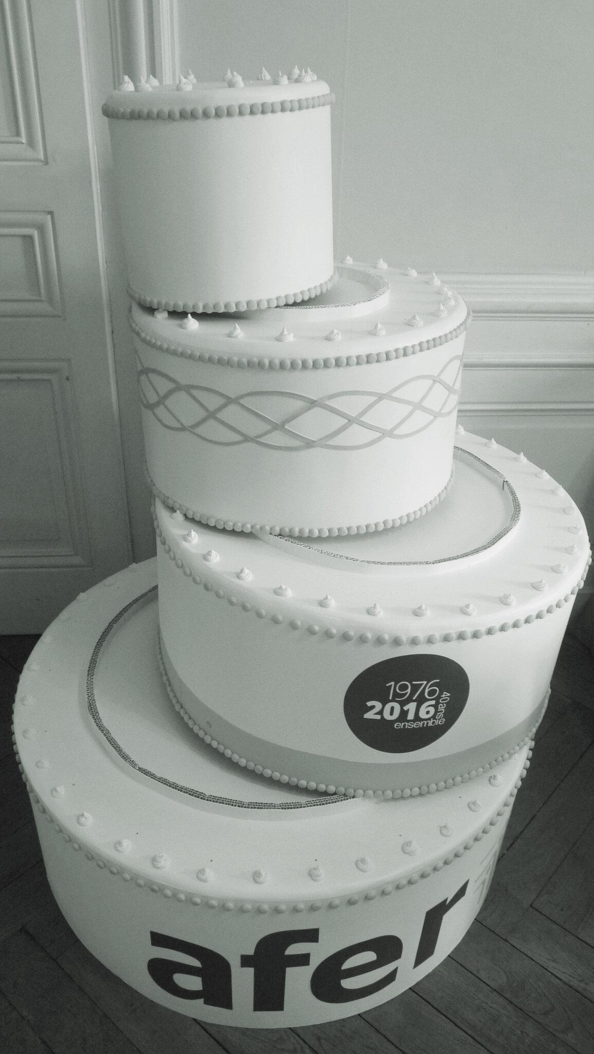 Gâteau Afer, diamètre 90 cm, heuteur 120 cm, livré en kit