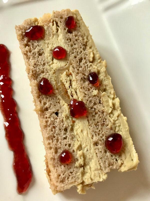 Tranche d'opéra de foie gras aux figues