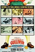 affiche the 3 worlds of gulliver