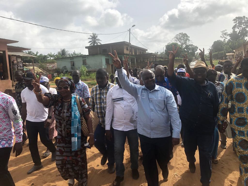 Hubert Oulaye : Nous sommes venus vous investir pour déboucler les élections de 2020