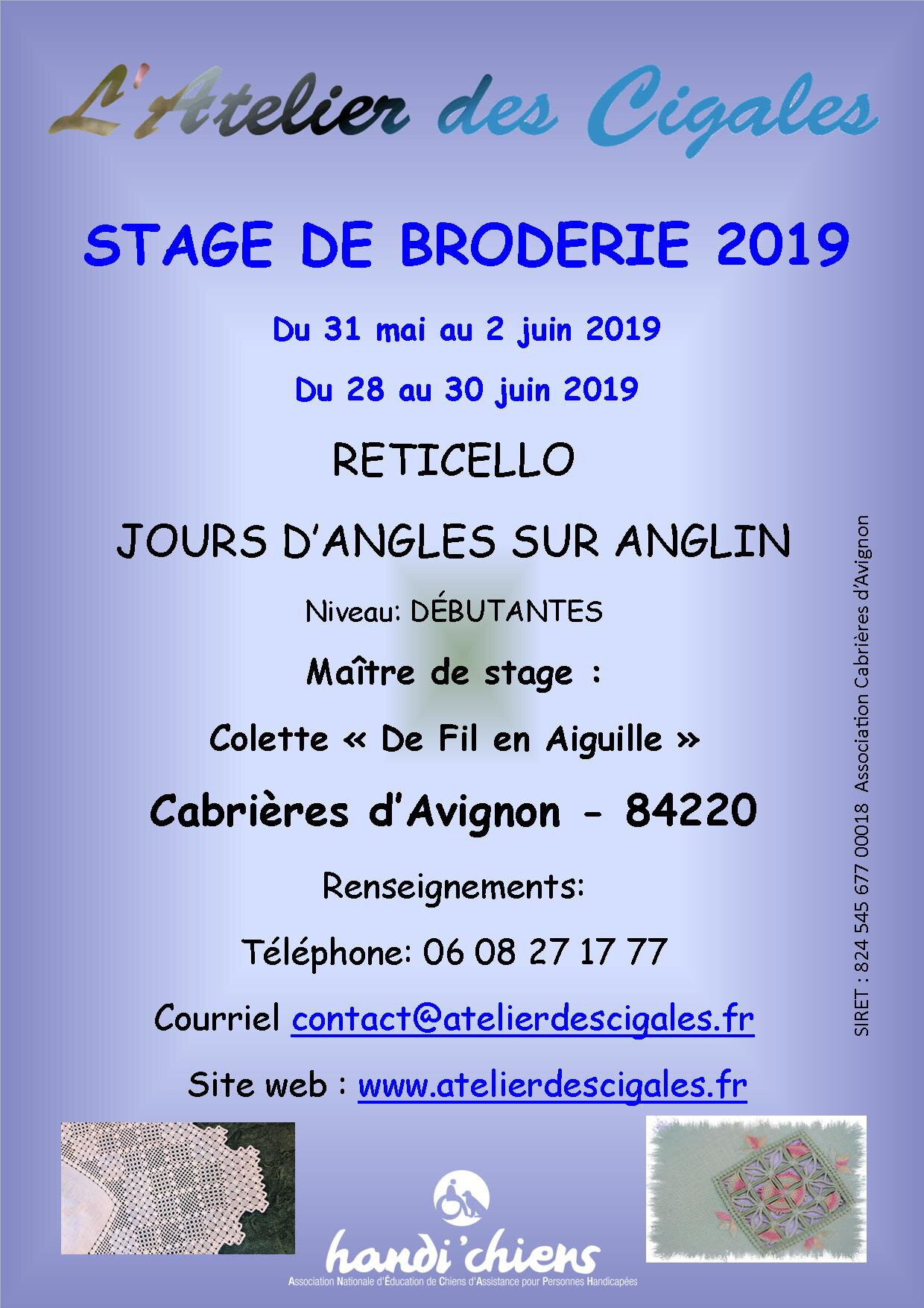 Stages de Broderies