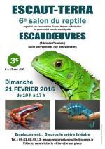 Affiche 6éme Salon du reptile Escau-Terra à Escaudoeuvres