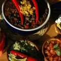 Black beans chili - guacamole et chili con carne aux haricots noirs