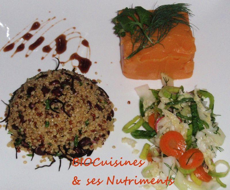 quinoa-patate douce-crudites