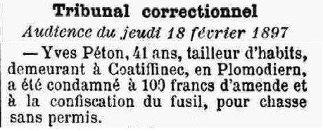 1897 Tribunal de Chateaulin