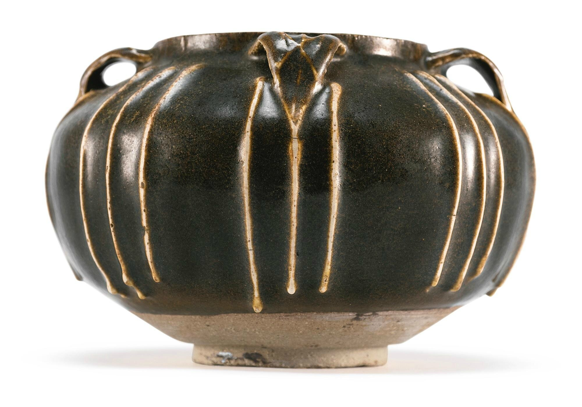 A ribbed brown-glazed jar, Northern Song-Jin Dynasty