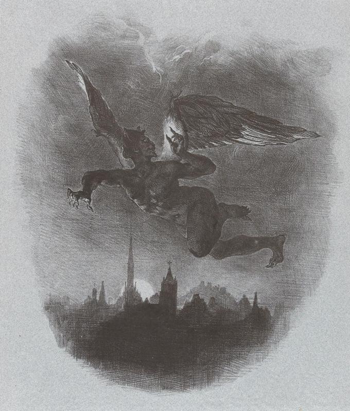 Delacroix-Méphisto dans les airs-1828