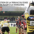 RÉFECTION DE LA TRIBUNE DU STADE DE RUGBY À LA MAROUTINE