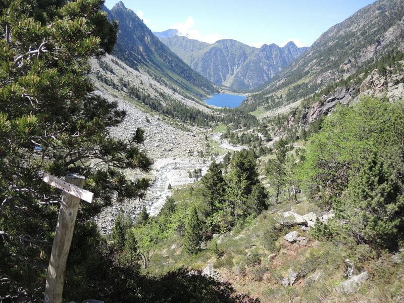 C) Vallée du Gave de Gaube, cascade d'Esplumouse, vue sur lac de Gaube (65)
