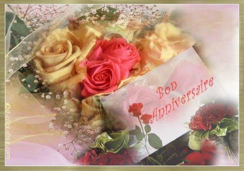 anniv fleurs carteLN15