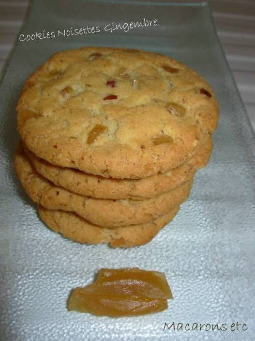 Cookies noisettes & gingembre
