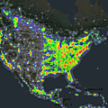 usa-Light Pollution Map