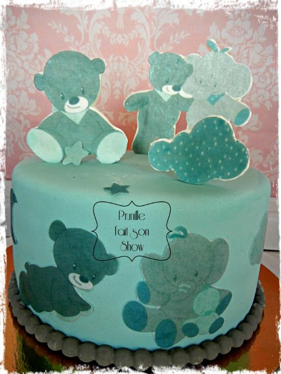 baby shower cake boy prunillefee
