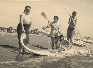 1957 aout narbonne plage