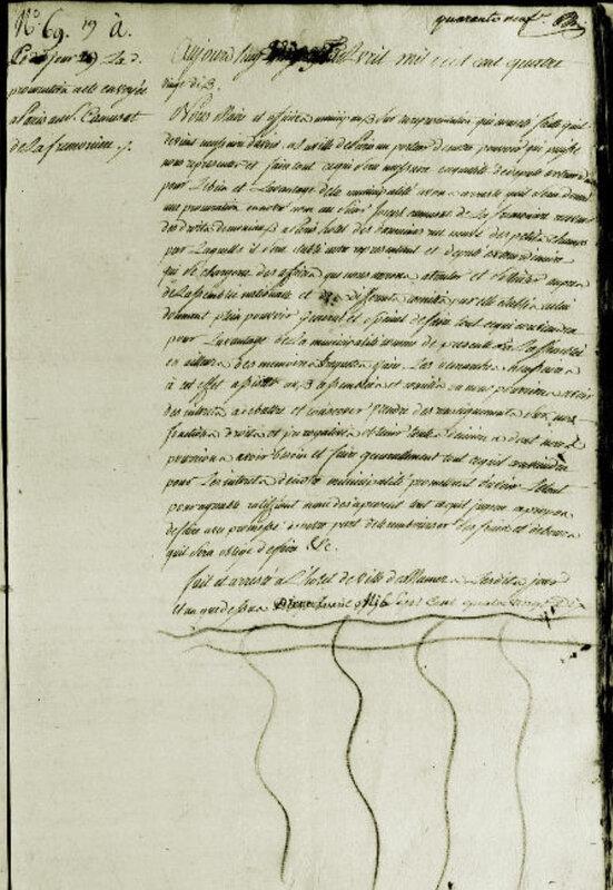 Le 19 avril 1790 à Mamers : Pouvoir à Joseph Camusat pour représenter la ville à l'assemblée.
