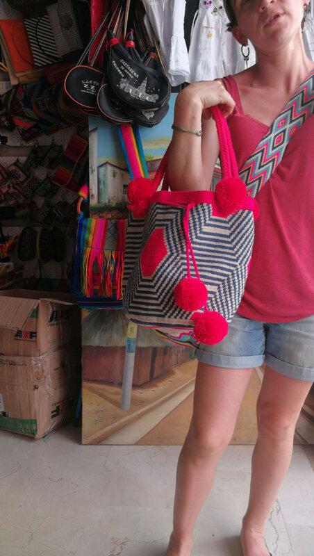 sac bleu rose