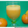 Jus de fruits pamplemousse, orange et citron maison