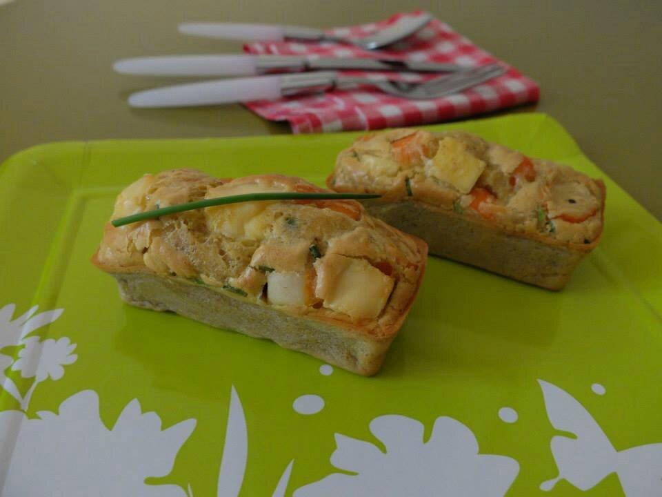 Mini cake au surimi, curry et à La vache qui rit® de Clémentine