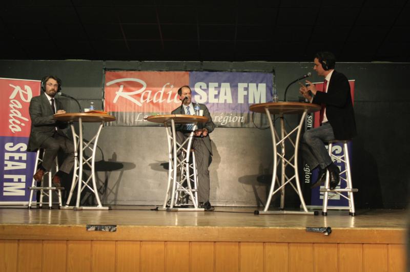 débat Sea FM David Nicolas Guénhaël Huet Edouard Frémy Avranches élections municipales 2014