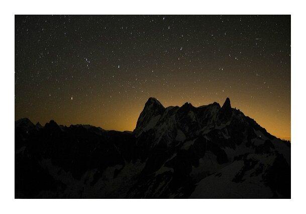 Nuit sur les Jorasses © Tous droits réservés.