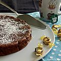 Gâteau mascarpone et chocolat caramel intense
