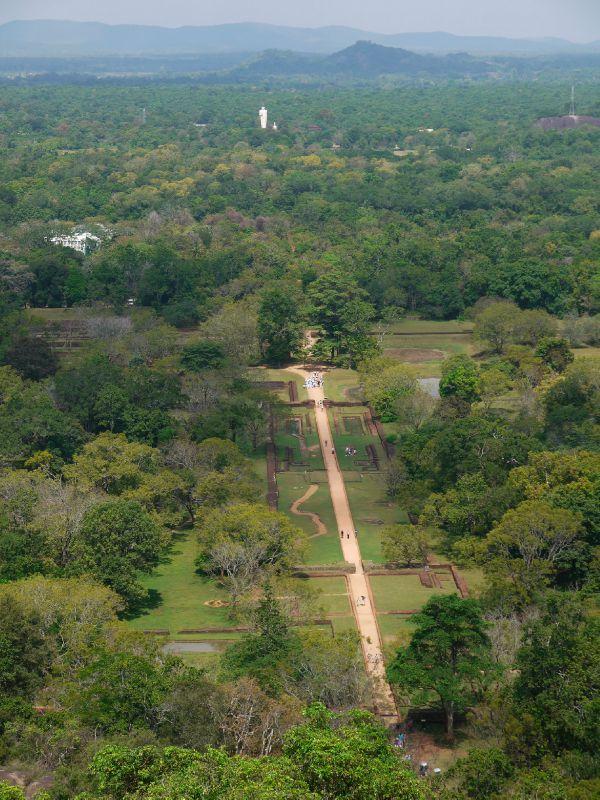 Sri Lanka Sigiriya vue d'en haut